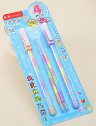Large Capacity Rainbow Color 0.8mm Water Chalk Highlighter Blister Card 2 Pens And 2 Refills
