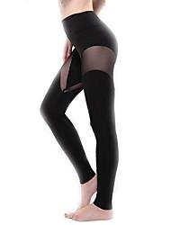 Legging Couleur Pleine Carbone de Bambou Femme