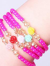 Strand Bracelets 1pc,Pink Bracelet Fashionable Circle 514 Glass Jewellery