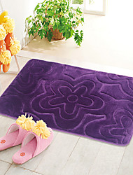 "Casual Style 1PC Polyester Bath Rug 15"" by 23"" Floral Pattern"