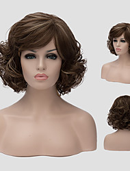 Dark brown wig Europe and the United States new fluffy daily short hair Synthetic Wigs