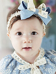 Girls Hair Accessories,All Seasons Chiffon / Roman Knit Blue / Beige