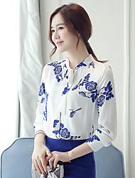 Women's New Fashion Bowknot Chiffon Long Sleeve Blouses Shirt