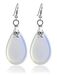 Alloy Hoop Earrings Clear Earrings Wedding /Party 1 pair