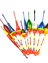 anmuka 10pcs viel Fischerei locken schwimmt bobbers Driftröhre Indikator verschiedenen Größen rutschen w51007