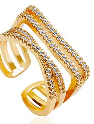 Anéis Fashion Casamento / Pesta Jóias Liga Feminino Anéis Statement 1pç,6 / 7 / 8 / 9 Dourado / Prateado / Ouro Rose