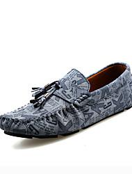 Черный Синий-Мужской-Повседневный-Кожа-На плоской подошве-Удобная обувь Мокасины-Мокасины и Свитер