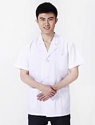 verão curto parágrafo jaleco branco jaleco enfermeira médica casaco médico laboratório vestido de mangas curtas (tamanho L)