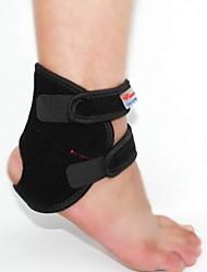 Men Black Nylon Running Ankle Brace