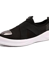 Herren-Sneaker-Lässig-Stoff-Flacher Absatz-Komfort-Schwarz Blau Weiß
