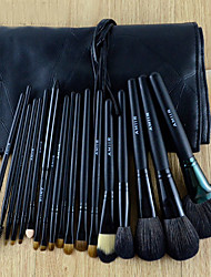 18Pcs Black Animal Hair Makeup Brushes Set