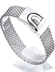 Kalen®2016 New Fashion Jewelry Men's High Polishing 316L Stainless Steel Mesh Bracelets Best Friendship Gift