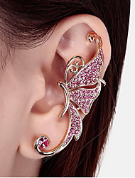 Women's Fashion Butterfly Style Gold Clip Earring 1pc