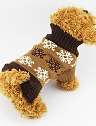 Katzen / Hunde Kostüme / Mäntel / Pullover Grau / Kaffee Hundekleidung Winter Halloween / einfarbig / Weihnachten / SchneeflockeCosplay /