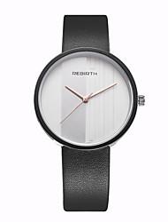 REBIRTH Pánské Dámské Módní hodinky Náramkové hodinky Unikátní Creative hodinky Křemenný / PU Kapela Běžné nošení Černá BíláBílá