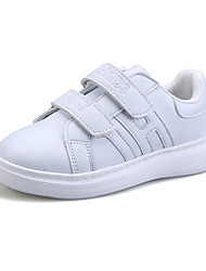 Boy's / Girl's Sneakers Spring / Fall Comfort PU Casual Flat Heel Magic Tape White / Silver / Gold