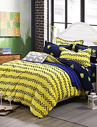 Yellow Print Bedlinen Fleece winter bedding set queen king size soft bedsheet pillowcase Duvet cover 4pcs bed set