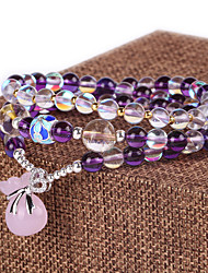Strand Bracelets Natural Crystal Fashionable Daily / Casual Jewelry Gift Purple