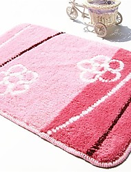 "Country Style 1PC Polypropylene  Bath Rug 15"" by 23"" Floral Pattern"