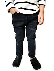 Boy's Casual/Daily Solid Pants,Others Winter / Fall Black