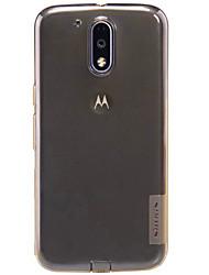 Для Кейс для Motorola Прозрачный Кейс для Задняя крышка Кейс для Один цвет Мягкий TPU для Motorola Moto G4 Play / Other