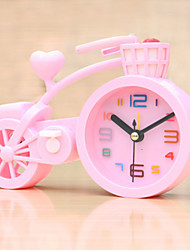 (Random color)Bicycle shape  mute alarm clock students electronic lazy bedroom small alarm clock