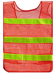 Orange-Red Thicker Section Mesh Mesh Reflective Vest Vest Traffic Safety Clothing Warning Clothing