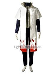 Inspiré par Naruto Minato Namikaze Manga Costumes de Cosplay Costumes Cosplay Couleur Pleine Manches Courtes Gilet Haut Pantalon Manteau