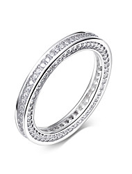 925 Sterling Silver Cubic Zirconia Finger Ring Fashion Simple for Women's Rings Wedding Jewelery