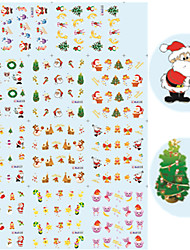11 Designs Nail Art Christmas Stickers Interesting Christmas Nail Decoration BLE122-132