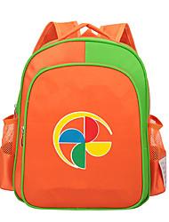 Kids Backpack Nylon All Seasons Casual Outdoor Zipper Orange Yellow Green Blue Light Green