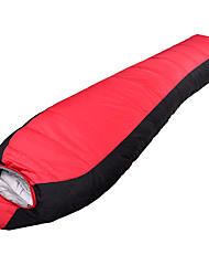 Sleeping Bag Mummy Bag Single 0 Duck Down 1500g 210X80 Hiking / Camping KEEP WARM /  COLD HILL