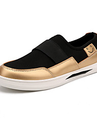 Women's Shoes PU / Fabric Spring / Fall Comfort Sneakers Athletic /Slip-on / Split Joint Black / White / Gold