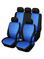 9 PCS Set Car Seat Covers Gray Blue Red Universal Fit  Racing Seat embroidery Design Material Polyester