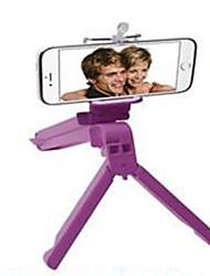 a nova auto-temporizador tripé triple multifuncional quadro dobrável com o clipe de suporte do telefone titular auto-tablet
