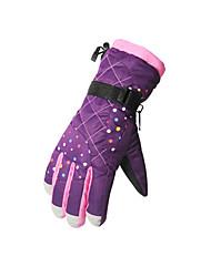 Ski-Handschuhe Winterhandschuhe Damen / Kinder Sporthandschuhe warm halten / Wasserdicht Handschuhe Skifahren / Snowboarding  Leinwand