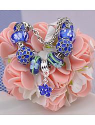 Pulseiras Pulseiras Strand Vidro Formato Circular Fashion Jóias Dom Azul,1pç