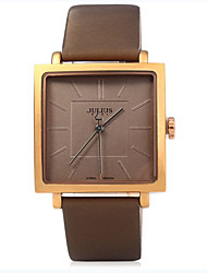Julius® Brand Women's Fashion Dress Watches Rose Gold Profession Casual Leather Strap Quartz Square Wrist watch
