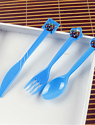 Disposable plastic  fork + spoon for children's birthday party