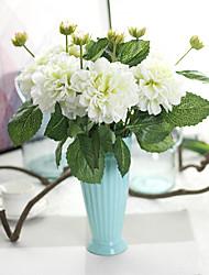 Simulation Flower Export Manufacturer Dahlia 2 Head RFor Home Decoration Wedding Arrangement