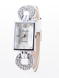 Ladies'/Women's Korean Fashion Square Diamond PU Leather Belt Quartz Female Form