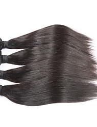 7A Unprocessed brazilian Straight hair weave bundles 4pc/lot natural black brazilian virgin Hair extensionson on sale