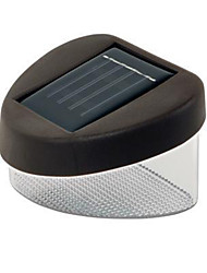 MLSLED® 0.12W 10lm 6500K 2-SMD 3528 LED Cool White Waterproof Solar Powered Garden Fence Lamp - Brown