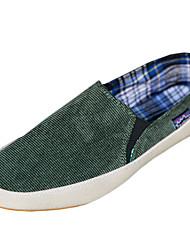 Herren-Loafers & Slip-Ons-Lässig-Denim Jeans-Flacher Absatz-Komfort-Schwarz Braun Grün Rot