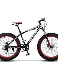 Mountain Bike / Mtb Men's Suspension Fork Double Disc Brake Bicycle/  7 Speed 26 Inch 4.0 Fat Tire/Sand Beach Snow Bike