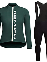 KEIYUEM®Spring/Summer/Autumn Long Sleeve Cycling Jersey+Long Bib Tights Ropa Ciclismo Cycling Clothing Suits #L83