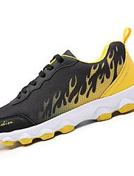 Unisex Sneakers Spring / Fall Comfort Tulle Casual Flat Heel  Black / Red Walking
