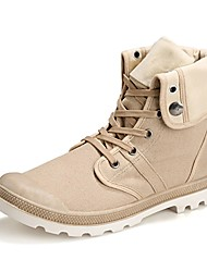 Men's Boots Spring/Summer/Fall/Winter Fashion Boots Canvas Outdoor/Casual Low Heel Hook & Loop/Black/Blue/Gray