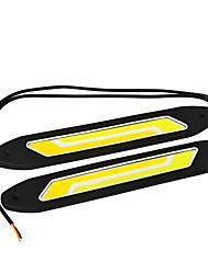 Jiawen белый + желтый свет 6-COB светодиодные 400LM автомобиль дневного света (DC 12V / 2pcs)