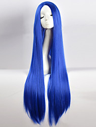 Cos Wig Blue in Long Straight Hair Wigs 100cm Long Wigs